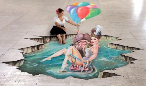3D street art by Melanie Stimmell