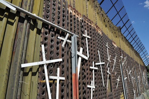 Wall of Crosses in Nogales by Jonathan McIntosh
